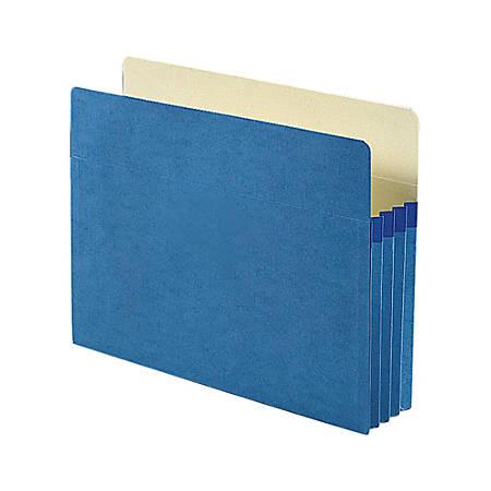"Smead® File Pocket Expanding Color Pockets, 3 1/2"" Expansion, Letter Size, Blue"