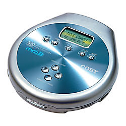 Coby® CD/MP3-Format CD Player With Wireless Car Kit