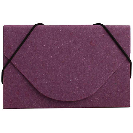 JAM Paper® Business Card Case With Elastic Closure, Purple