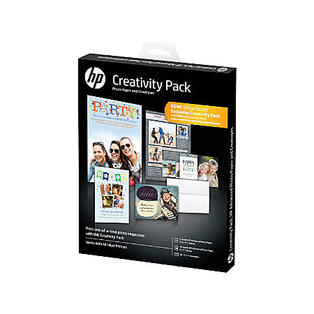 HP Advanced Photo Paper Creativity Pack, White