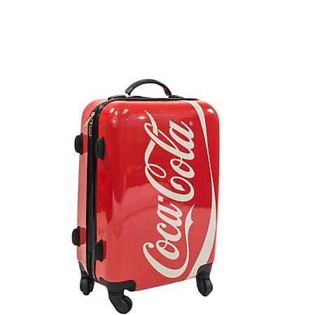 "ful Coca-Cola Upright Rolling Suitcase, 20""H x 14 5/16""W x 9 3/4""D, Multicolor"