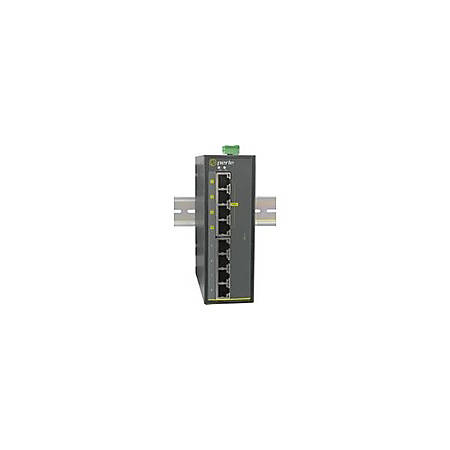 Perle IDS-108FPP - Industrial PoE Switch - 9 Ports - 2 Layer Supported - Optical Fiber, Twisted Pair - Rack-mountable, Panel-mountable, Rail-mountable, Wall Mountable - 5 Year Limited Warranty
