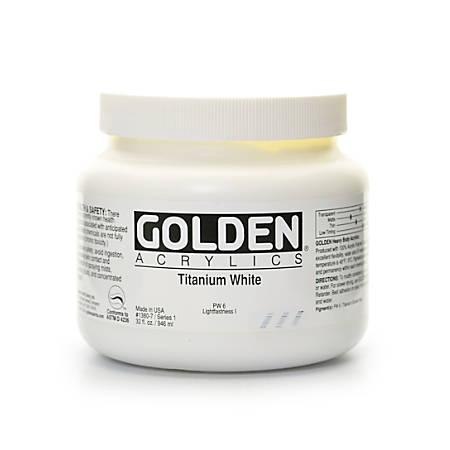 Golden Heavy Body Acrylic Paint, 32 Oz, Titanium White