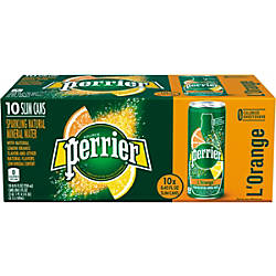 Perrier Sparkling Mineral Water LOrangeLemon Orange