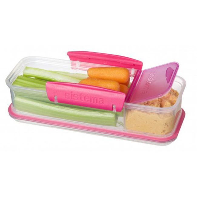 Sistema Snack Attack To Go Food Storage Container 1386 Oz Assorted