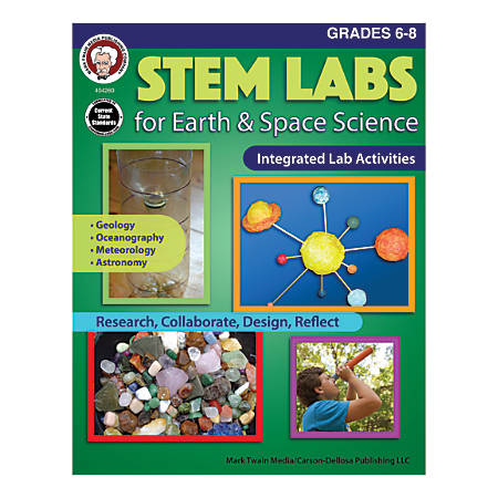 Mark Twain Media STEM Labs For Earth & Space Science, Grades 6-8