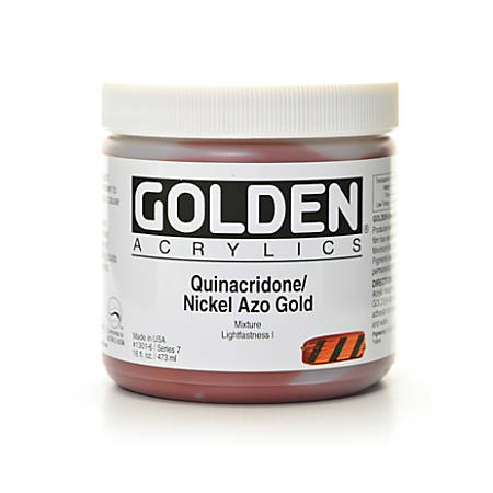 Golden Heavy Body Acrylic Paint, 16 Oz, Quinacridone Nickel Azo Gold