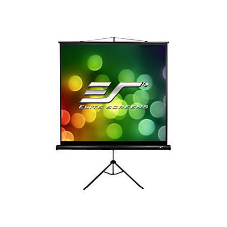 Elite Tripod B Series T85SB - Projection screen with tripod - 85 in (85 in) - 1:1 - MaxWhite - black
