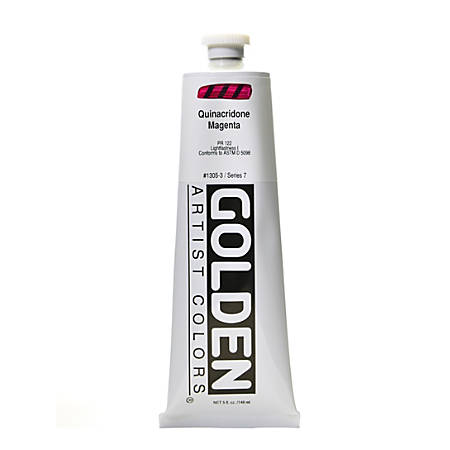 Golden Heavy Body Acrylic Paint, 5 Oz, Quinacridone Magenta