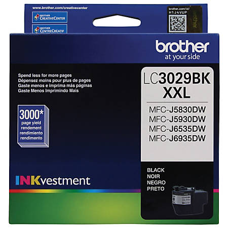 Brother® LC3029BKS Extra-High Yield Black Ink Cartridge