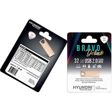 Hyundai Bravo Deluxe ROSE GOLD Keychain USB 2.0 Flash Drive 32GB Metal - Read Speed: Up to 10MB/s, Write Speed: Up to 3MB/s, Generation: 2.0 , Operation Temperature: 32° - 113° F (0° - 45 °C), Storage Temperature: 14° - 158° F(-10 °C - 70 °C)