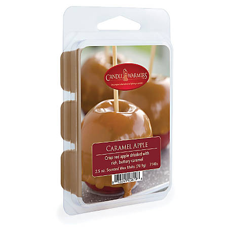 Candle Warmers Etc Wax Melts, Caramel Apple, 2.5 Oz, Case Of 4 Packs