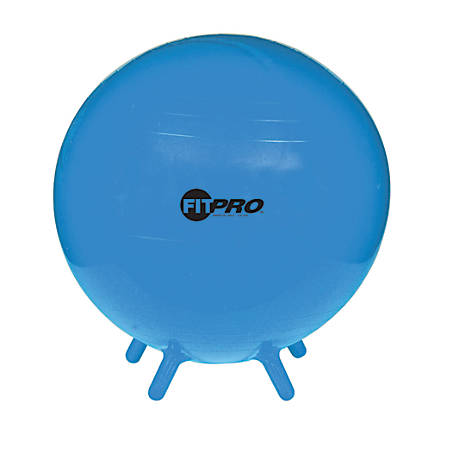 "Champion Sports FitPro Ball With Stability Legs, 21 3/4"", Blue"