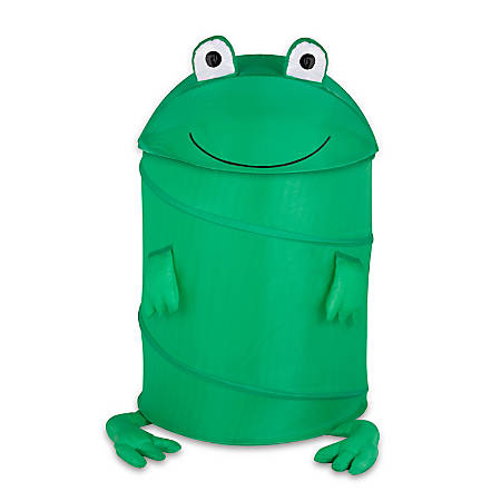 "Honey-Can-Do Animal Clothes Hamper, 30"", Green Frog"