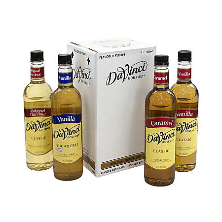 DaVinci Gourmet Syrup, Variety, 25.36 Oz, Pack Of 4 Bottles