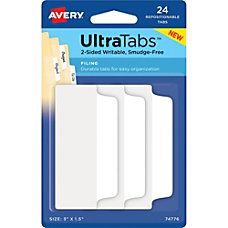 Avery Filing Ultra Tabs Write on