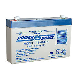 Power Sonic PS 670 Battery B