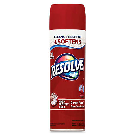Resolve Carpet Foam - Foam Spray - 0.17 gal (22 fl oz) - 12 / Carton - Blue, Red