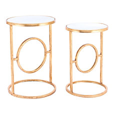 Zuo Modern Aro End Tables Round