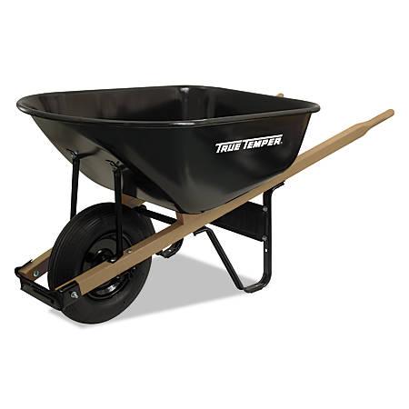 Jackson Steel Medium Duty Wheelbarrows, 6 cu ft, Smooth, Oilube Bearing, Black