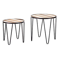 Zuo Modern Multicolor Tray Tables Round
