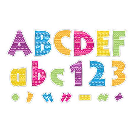 "Barker Creek® Letter Pop-Outs, 4"", Bohemian, Set Of 255"