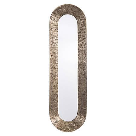 """Zuo Modern Skinny Oval Mirror, 40 7/16""""H x 12""""W x 2 7/16""""D, Gold"""