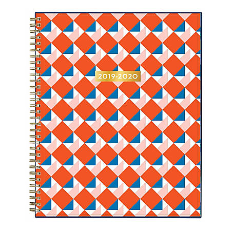 """Blue Sky™ Dabney Lee Weekly/Monthly Planner, 8-1/2"""" x 11"""", Square Dancing, July 2019 to June 2020"""