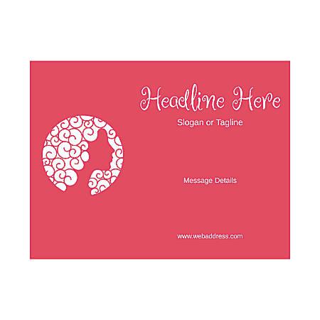 Custom Flyer, Horizontal, Lady With Hair