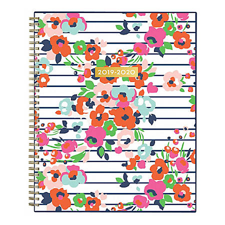 """Blue Sky™ Dabney Lee Weekly/Monthly Planner, 8-1/2"""" x 11"""", Summer Bloom, July 2019 to June 2020"""