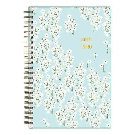 "Blue Sky™ Snow & Graham Doodle Academic Weekly/Monthly Planner, 5"" x 8"", Bunches Light Blue, July 2019 to June 2020"