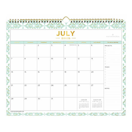 Calendar Of July 2020.Day Designer Monthly Academic Wall Calendar 15 X 12 Lovely Morning July 2019 To June 2020 Item 9562016