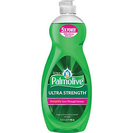 Palmolive Ultra Strength Liquid Dish Soap - Concentrate Liquid - 0.25 gal (32.50 fl oz) - 1 Each - Green