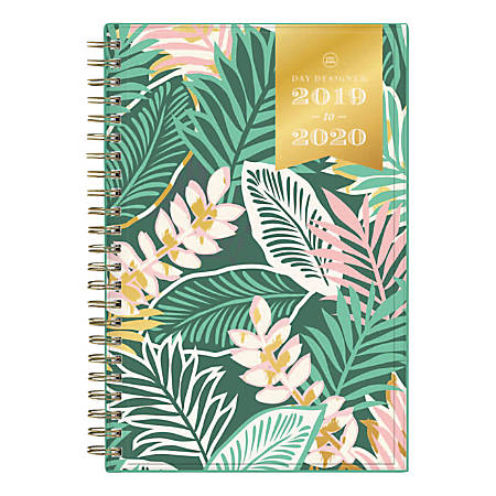 "Day Designer Academic Weekly/Monthly Planner, 5"" x 8"", Antigua, July 2019 - June 2020"