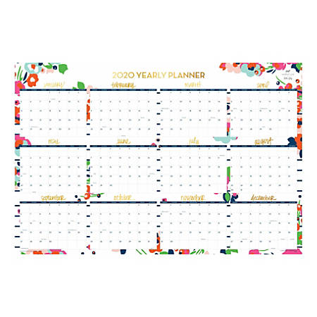2020 July Through December Calendar Dabney Lee for Blue Sky Monthly Dry Erase Wall Calendar Summer
