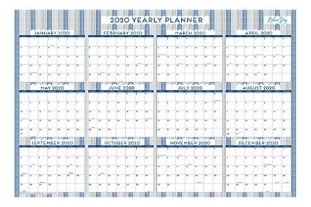 Wall Calendar January 2020 Blue Sky Laminated Dry Erase Wall Calendar 36 x 24 Herringbone
