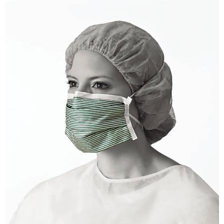 Medline N95 Adjustable Respirator Masks, Green/White, Box Of 35