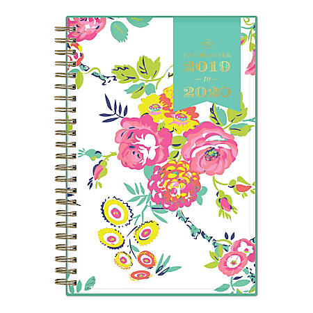 "Day Designer Academic Weekly/Monthly Planner, 5"" x 8"", Peyton White, July 2019 - June 2020"