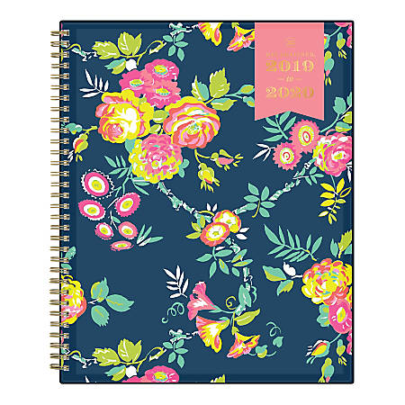 """Day Designer Academic Weekly/Monthly Planner, 8-1/2"""" x 11"""", Peyton Navy, July 2019 - June 2020"""