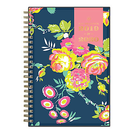 "Day Designer Academic Weekly/Monthly Planner, 5"" x 8"", Peyton Navy, July 2019 - June 2020"