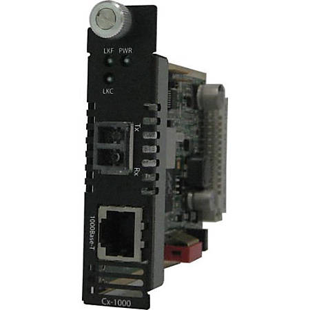 Perle CM-1000-S2LC40 Gigabit Media Converter - 1 x Network (RJ-45) - 1 x LC Ports - DuplexLC Port - 1000Base-T, 1000Base-EX - Internal