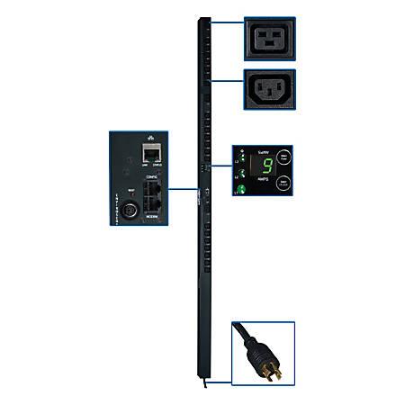 Tripp Lite PDU 3-Phase Switched 208V 5.7kW L15-20P 21 C13; 3 C19 0URM