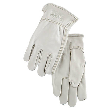 Memphis Glove Cowhide Leather Driver's Gloves, Rolled Cuffs, Small, Pack Of 12 Pairs