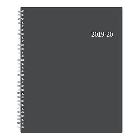"""Blue Sky™ Weekly/Monthly Planner, 8-1/2"""" x 11"""", Collegiate, July 2019 to June 2020"""