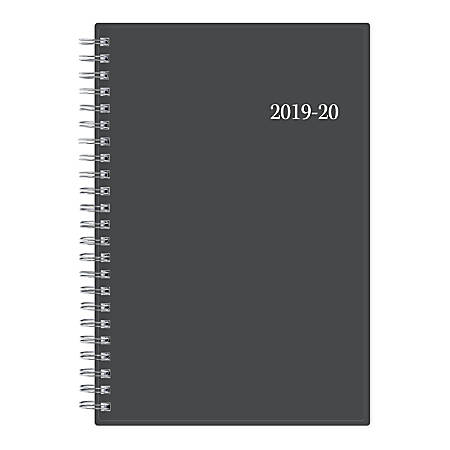 "Blue Sky™ Weekly/Monthly Planner, 5"" x 8"", Collegiate, July 2019 to June 2020"