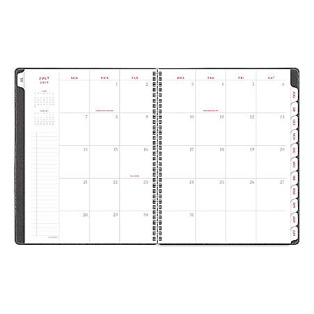 """AT-A-GLANCE® Signature 13-Month Academic Monthly Planner, 11"""" x 8-3/8"""", Heather Gray, July 2019 to July 2020"""