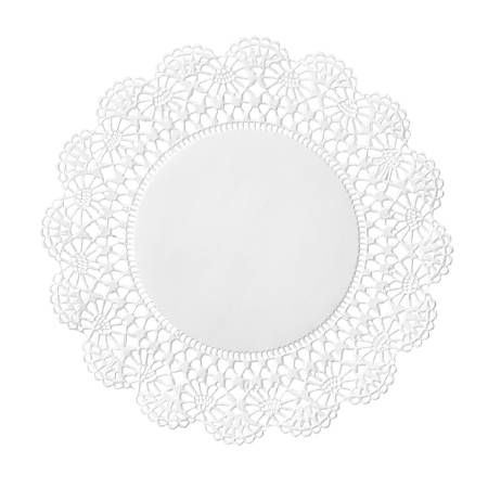 """Hoffmaster Cambridge Lace Doilies, 6"""", White, Case Of 10,000 Doilies"""
