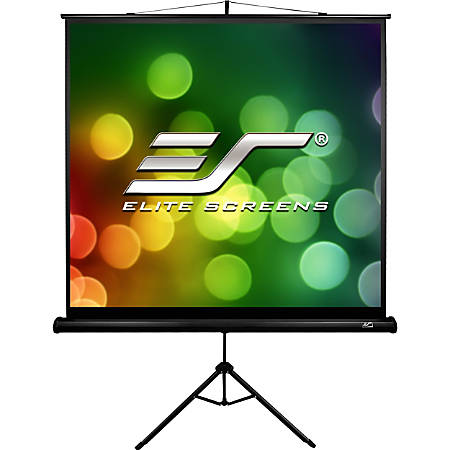Elite Screens TRIPOD B - 113-INCH, 1:1, Lightweight Pull Up Foldable Stand, Manual, Movie Home Theater Projector Screen, 4K / 8K Ultra HDR 3D Ready, 2-YEAR WARRANTY, T113SB""