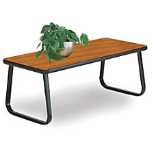 OFM Reception Area Table Rectangular Cherry