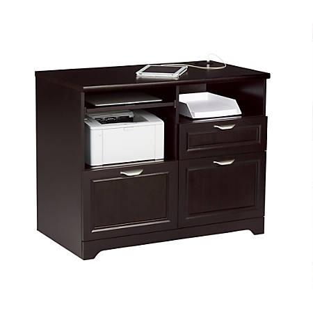 "Realspace® Magellan Tech Station Printer Stand 2.0, 36""W, Espresso"
